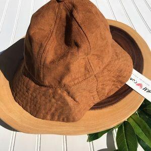 H&M Coachella Collection Faux Suede Bell Cap NWT
